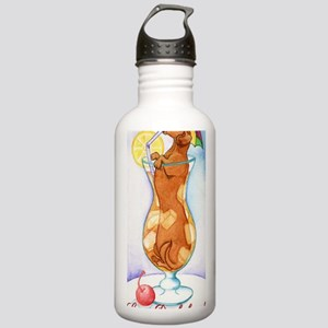 Long Dachshund Iced Te Stainless Water Bottle 1.0L