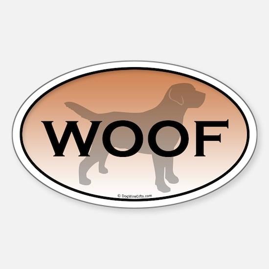 Labrador Woof Sticker (Oval)