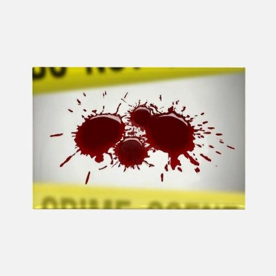 Crime Scene Spatter Rectangle Magnet