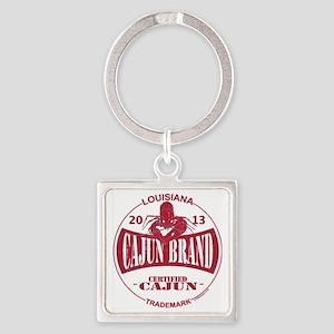 Cajun Brand Square Keychain