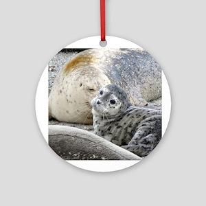 Harbor Seal Pup Ornament (Round)