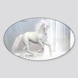wu2_pillow_case Sticker (Oval)