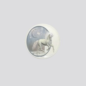 White Unicorn 2 Mini Button
