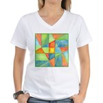 Color Square Abstract 1 Women's V-Neck T-Shirt