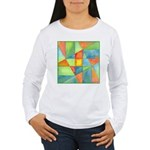 Color Square Abstract 1 Women's Long Sleeve T-Shir