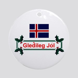 Iceland Gledileg Jol Keepsake Ornament