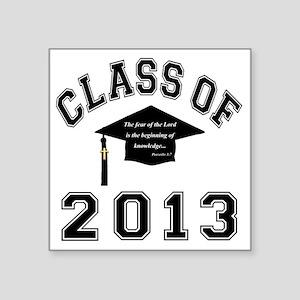 "Class Of 2013 Knowledge Square Sticker 3"" x 3"""