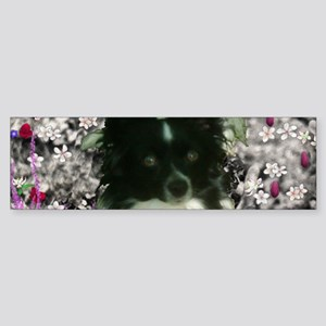 Matisse the Papillon in Flowers Sticker (Bumper)