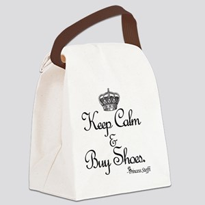 Keep Calm & Buy Shoes Canvas Lunch Bag