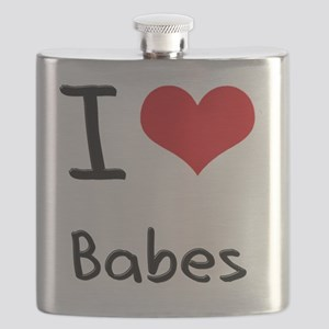 I Love Babes Flask