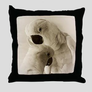 Cockatoo Pals Throw Pillow