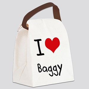I Love Baggy Canvas Lunch Bag