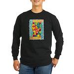 Autumn Quilt Watercolor Long Sleeve Dark T-Shirt