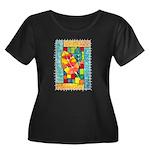 Autumn Quilt Watercolor Women's Plus Size Scoop Ne