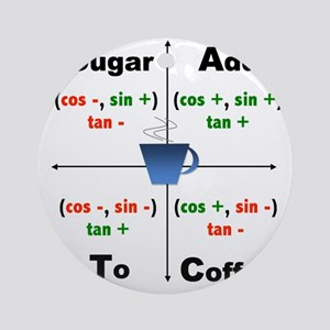 Trig Signs Round Ornament