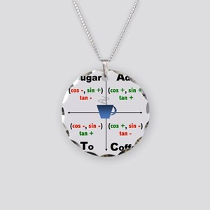 Trig Signs Necklace Circle Charm