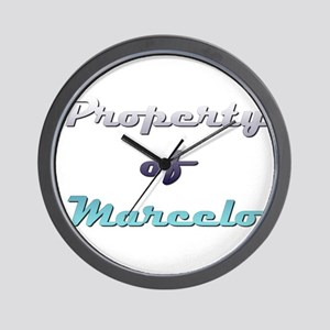 Property Of Marcelo Male Wall Clock