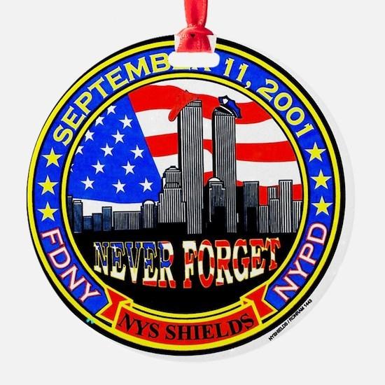 New York State Shields  Logo Ornament