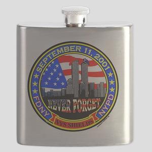 New York State Shields  Logo Flask