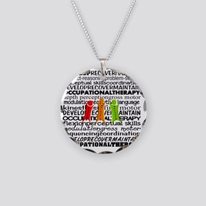 OT all over Necklace Circle Charm