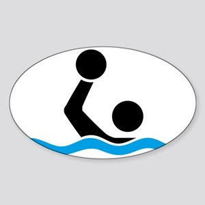 waterpolo Sticker (Oval)