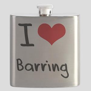 I Love Barring Flask
