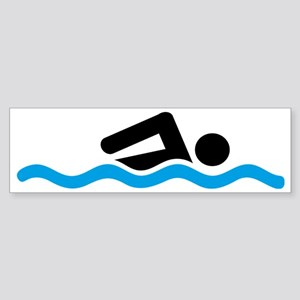 swimming Sticker (Bumper)