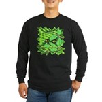 Through the Leaves Watercolor Long Sleeve Dark T-S