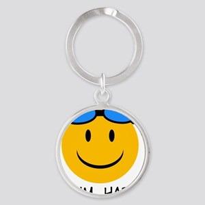 swimming Round Keychain
