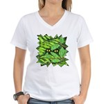 Through the Leaves Watercolor Women's V-Neck T-Shi