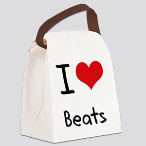 I Love Beats Canvas Lunch Bag