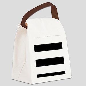 Stripes Canvas Lunch Bag