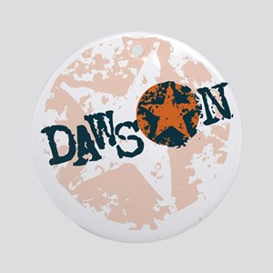 Dawson Band Star logo Orange Round Ornament