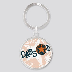 Dawson Band Star logo Orange Round Keychain