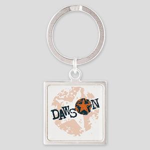 Dawson Band Star logo Orange Square Keychain