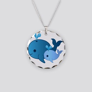 Baby Whale Necklace Circle Charm