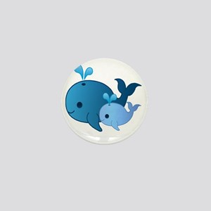 Baby Whale Mini Button