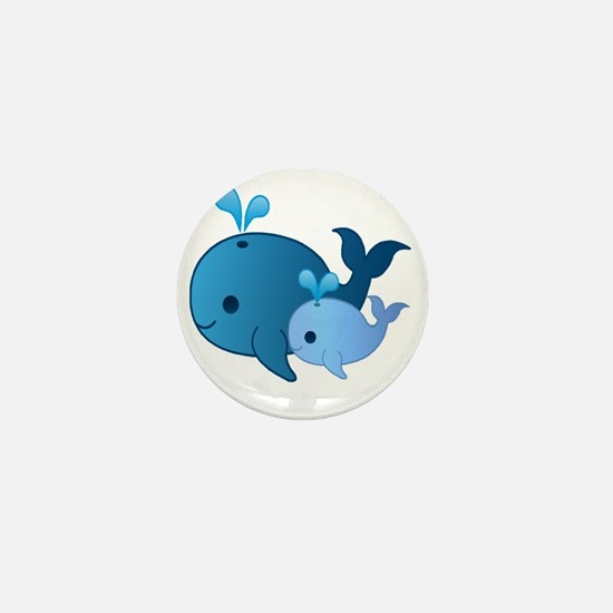 Baby Whale Mini Button