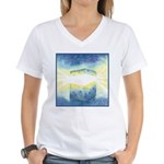 Birthday Box Watercolor Women's V-Neck T-Shirt