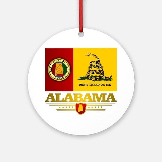 Alabama Gadsden Flag Round Ornament