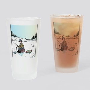 Ice-fishing Pizza bait Drinking Glass