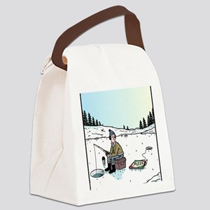 Ice-fishing Pizza bait Canvas Lunch Bag