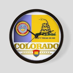 Colorado Gadsden Flag Wall Clock