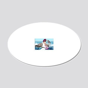 m_Rectangular Cocktail Plate 20x12 Oval Wall Decal