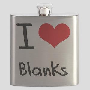 I Love Blanks Flask