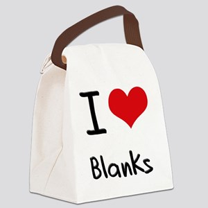 I Love Blanks Canvas Lunch Bag