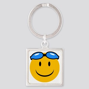 swimming Square Keychain