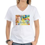 Creation Myth Watercolor Women's V-Neck T-Shirt