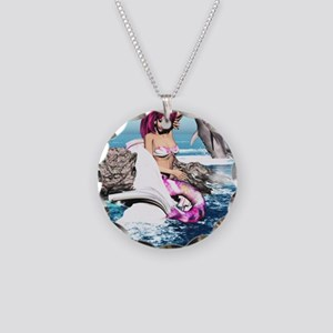m_shower_curtain Necklace Circle Charm
