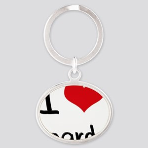 I Love Boards Oval Keychain